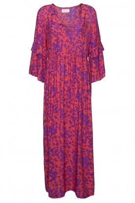 Les Favorites |  Maxi dress with floral print Bella | pink