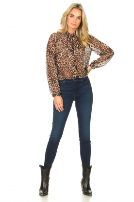 Look See-through blouse with print Bea
