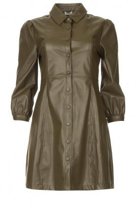 Liu Jo |  Faux leather dress Lana | green