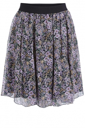 Set | Floral skirt Rana | black