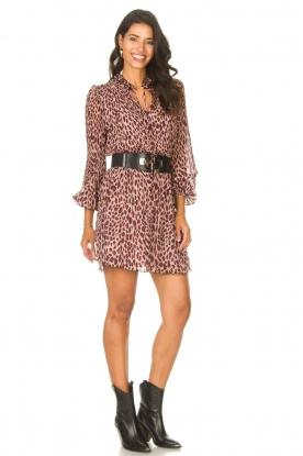 Look Dress with animal print Irene