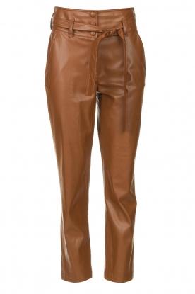 Liu Jo |  Faux leather paperbag pants Lia | brown