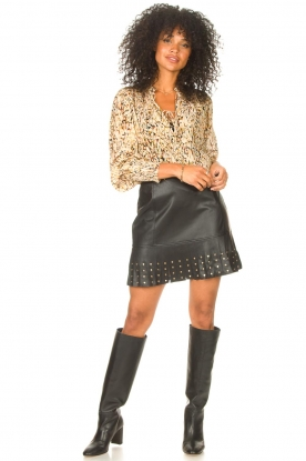 Look Faux leather skirt Janna