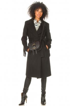 Look Woolen coat with fringes Zara