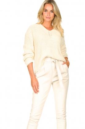 Set |  Chunky knit sweater Imane | natural