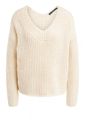 Set | Chunky knit sweater Imane | natural
