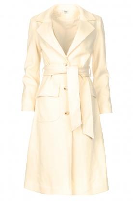 Liu Jo |  Cloak coat with tie waist belt Joy | natural