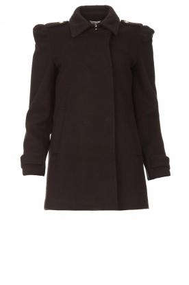 Liu Jo |  Coat with button details Sara | black
