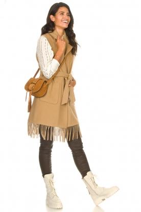 Look Woolen waistcoat with fringes Karla