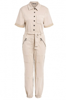 Set |  Utility Lyocell jumpsuit Ilona | natural
