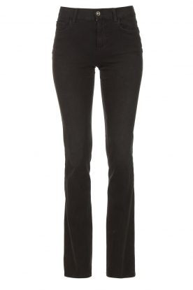 Liu Jo Denim | Stretch bootcut jeans Iya | zwart