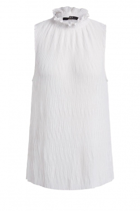 Set | Sleeveless top with crêpe effect Didi | white