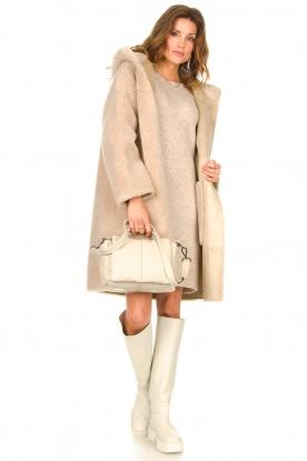 Nubikk |  High leather boots Fara Zip | white