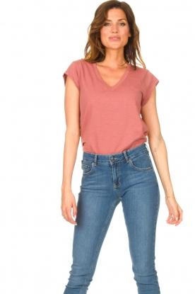 CC Heart |  V-neck T-shirt Vera | pink