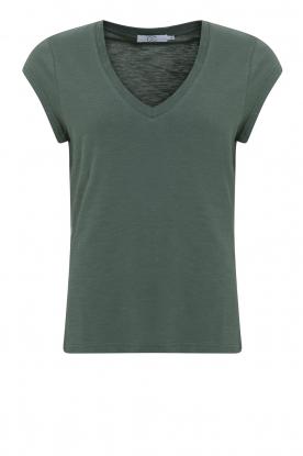 CC Heart |  V-neck T-shirt Vera | green