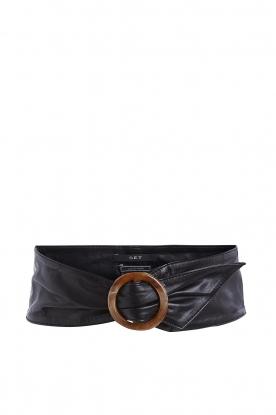 Set |  Leather waistband Inaya | blacl