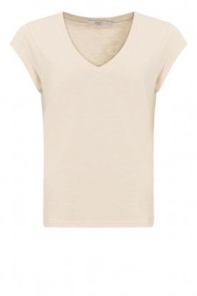 CC Heart |  V-neck T-shirt Vera | beige