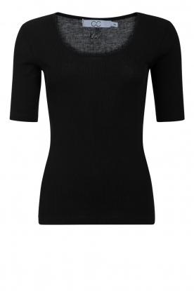 CC Heart |  Silk T-shirt CCH1108 | black