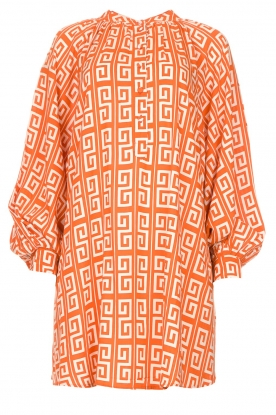 Genesis | Dress with graphic print Sofia | orange