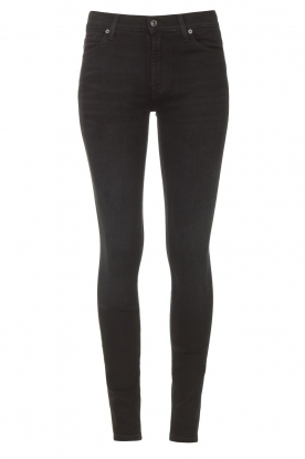 7 For All Mankind |  High waist skinny jeans Slim Illusion | black