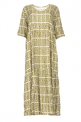 Genesis | Maxi dress with graphic print Luih | green