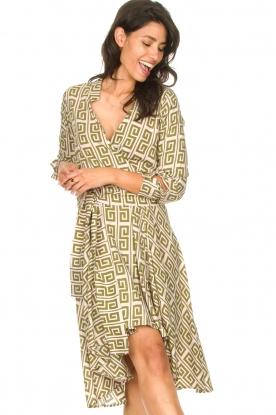 Genesis |  Asymmetric midi dress Tess | green