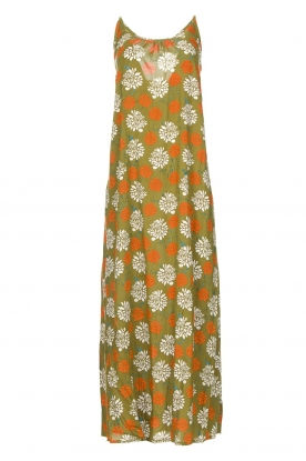 Genesis | Maxi dress with floral print Melia | green
