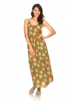 Genesis |  Maxi dress with floral print Melia | green