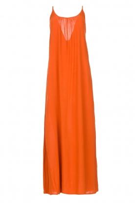 Genesis | Maxi-jurk met crêpe stof Melia | rood