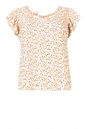 JC Sophie | Floral top Greetje | natural