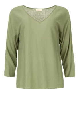 JC Sophie | Cotton sweater Ginger | green