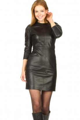 Dante 6 |  Leather dress Doudou | black