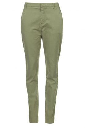 JC Sophie | Cotton chino pants Gray | green