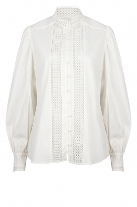 Dante 6 | Katoenen broderie blouse Bijou | wit
