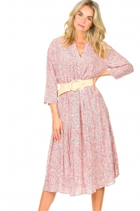 JC Sophie |  Floral midi dress Georgia | pink