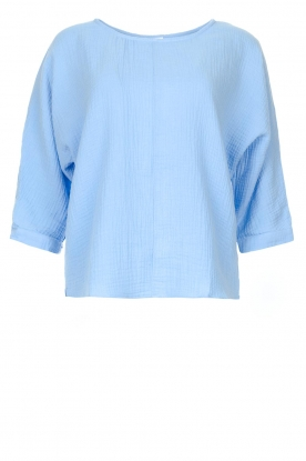 JC Sophie | Cotton blouse with creased effect Gilda | blue