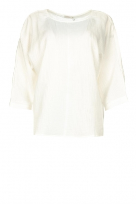 JC Sophie | Cotton blouse with creased effect Gilda | white