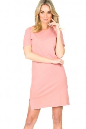 Blaumax |  Organic cotton T-shirt dress Cayman | pink