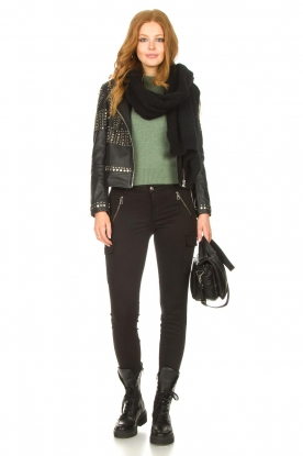 Look Leather jacket with studs Melrose