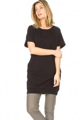 Blaumax |  Cotton sweater dress Queens | black