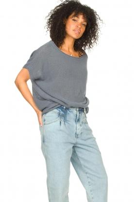 Blaumax    Linen sweater Ivy   blue