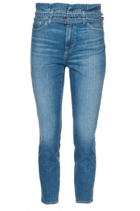 7 For All Mankind | Slim paperbag jeans Myl | blauw