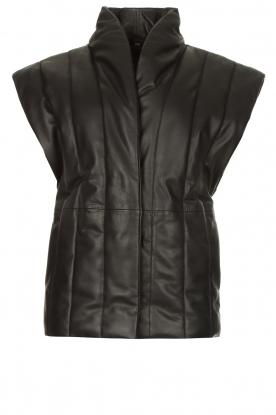 Copenhagen Muse |  Leather bodywarmer Royal | black
