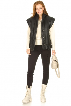 Look Leather bodywarmer Royal
