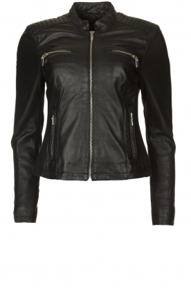 STUDIO AR BY ARMA |  Leather biker jacket Tuya | black
