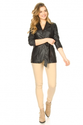 Look Leather blazer with belt Nora
