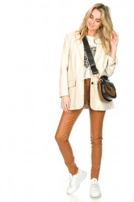 Look Leather long blazer Luna