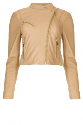 STUDIO AR BY ARMA | Short leather jacket Gaga | natural