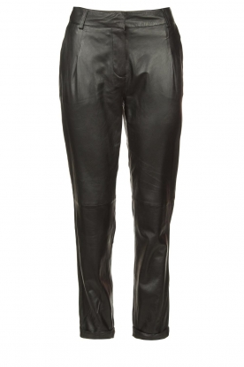 STUDIO AR BY ARMA |  Leather chino pants Nessa | black