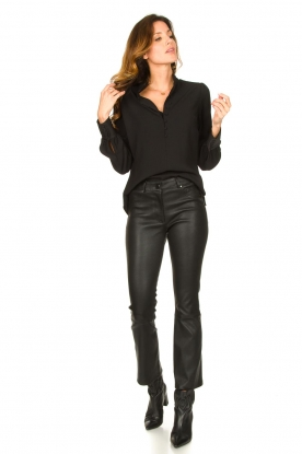 Look Leather stretch cropped pants Eva